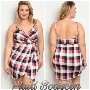 Dresses & Skirts - Tulip Wrap Tank Dress Plus Size Polyester /Spandex